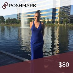 Prom dress / homecoming dress ! Blue name brand dress brand new only worn once its size 6 but was a little big for more of a curvy women dress Dresses Prom