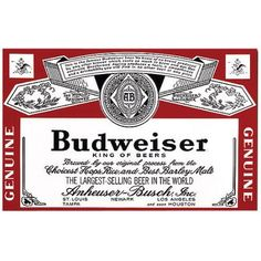 Trademark Fine Art Refreshing Canvas Art Budweiser Vintage Ad, Multicolor