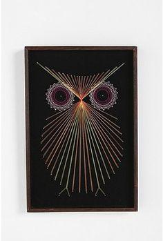 Threaded Owl Wall Art
