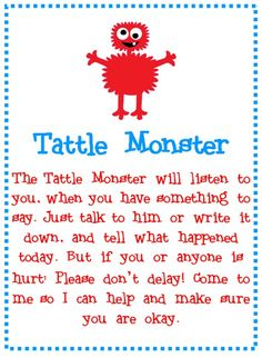 Little Miss Kindergarten - Lessons from the Little Red Schoolhouse!: Tattle Tale!