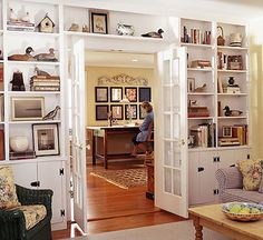 House Books Comfortably In Wall To Bookcases That Surround A Doorway Or Window