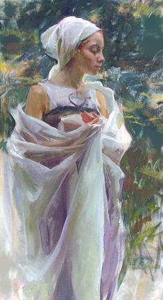 Daniel F. Gerhartz ~ Midsummer (1965-) American oil on canvas