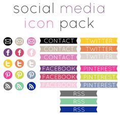 {5+5 Friday} 10+ Free Resources for Social Media Icons - Becoming Martha