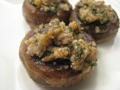 Adventures in Food: Stuffed Parmesan Mushrooms