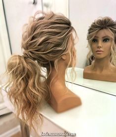 50 Romantic Bridal Updos Ideas You Need to Try 9 50 Romantic Bridal Updos Ideas . - 50 Romantic Bridal Updos Ideas You Need to Try 9 50 Romantic Bridal Updos Ideas … 50 Romantic B - Wedding Hair And Makeup, Hair Makeup, Hair Wedding, Wedding Pony Tail, Wedding Guest Updo, Wedding Shoes, Prom Makeup, Updos For Wedding, Wedding Updo With Braid