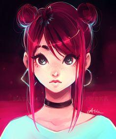 16 Ideas For Motorcycle Drawing Anime Cartoon Kunst, Cartoon Art, Art And Illustration, Fantasy Kunst, Fantasy Art, Anime Fantasy, Pretty Art, Cute Art, Digital Art Girl