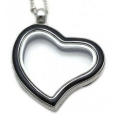 Enamel Curved Heart Lockets