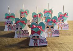 Tickle your party go-ers sweet tooth with this adorable addition to your LOL Surprise Doll party! These Lollipop holders will make the perfect table accents. Lollipop Birthday, Lollipop Party, Birthday Party Treats, Birthday Favors, Girl Birthday, Birthday Parties, Doll Party, Party In A Box, Lol Dolls