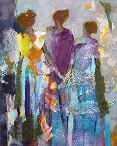 Affection by Cheryl Waale Mixed Medium ~ 30 x 24
