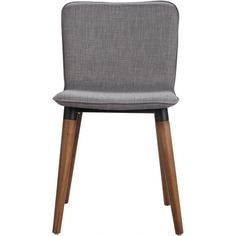 Carina Dining Chair, Ash Walnut & Light Grey
