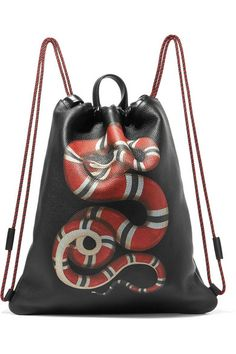 8fc1f213d7 Gucci - Merveilles printed textured-leather backpack