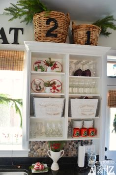 Red & white Christmas kitchen and home tour.