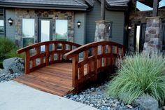 House Outside Design, Garden Bridge, Deck, Outdoor Structures, Patio, Outdoor Decor, Home Decor, Decoration Home, Room Decor