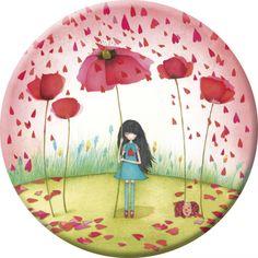 "Mila magnet (88 mm) ""Poppy umbrella"""