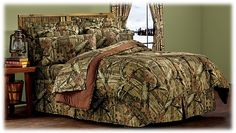 My husband better be cool with a camo bed. Bass Pro Shops Mossy Oak Break-Up Infinity Bedding Collection   Bass Pro Shops