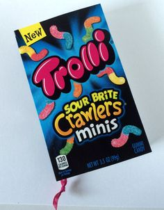 Trolli Crawlers Recycled Candy Box Journal / Paperback Style Notebook