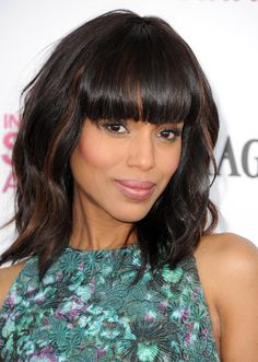 Kerry Washington shows us how bangs and waves are done at the Spirit Awards! #hair