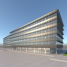 High detailed model of an office building. Suitable for visualizations, advertising renders and other purposes. This photoreal model will enhance detail and realism to any of your rendering projects. Skyscraper, Advertising, Models, 3d, Detail, Architecture, Building, Projects, Templates