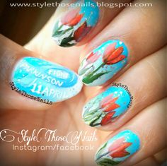 Style Those Nails: World Parkinson's Day - Red Tulip Nails