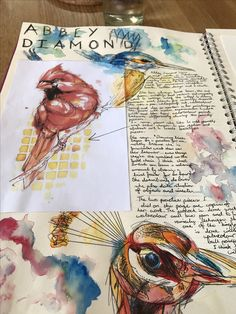 Artist research page of abby diamond a level art sketchbook, sketchbook layout, sketchbook ideas Art Journal Pages, Art Pages, Art Journaling, Textiles Sketchbook, Gcse Art Sketchbook, A Level Art Sketchbook Layout, Kunstjournal Inspiration, Sketchbook Inspiration, Sketchbook Ideas