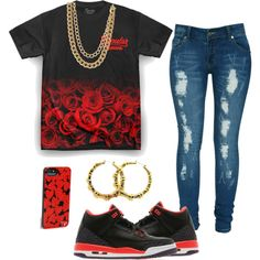 Red Roses ???, created by surayyah on Polyvore