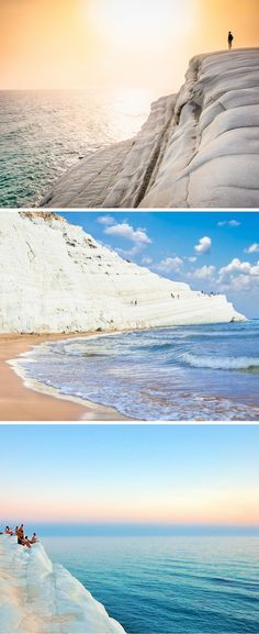 The Scala dei Turchi is a beach in southern Sicily that translates to the Stair of the Turks.  The name makes sense as the cliffs are naturally formed into brilliant white stairs, though I am not entirely sure why the Turks get ownership credit (supposedly because the Turks crawled up these steps during an invasion). This unique beach is a can't miss.  Click through to see 15 more of the world's most unique & awesome beaches!