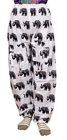 Elephant Print, Cotton Pants, Trouser Pants, Boho Gypsy, Krishna, Lounge Wear, India, Amazon, Casual
