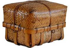 Antique Japanese kago (basket) from Meiji Period,circa 1900-1910 from Hot Moon Collection