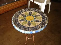 Update an old table with DIY Mosaic Tile