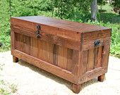 Red Mahogany Extra Large Hope Chest / End of the Bed Bench / Wedding Housewarming Gift