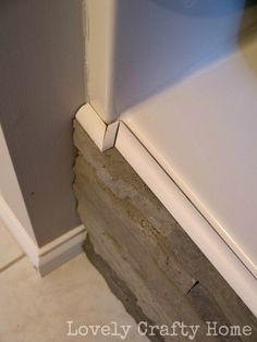 airstone and molding tub surround. Ideas: adhesive, hacksaw, and quarter round molding w caulk for top if needed Bathroom Spa, Small Bathroom, Bathroom Ideas, Bathroom Storage, Bathtub Ideas, Bathroom Stuff, Bathroom Repair, Restroom Ideas, Family Bathroom
