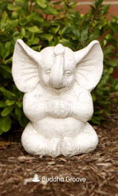 One of the most beloved creatures in the animal kingdom can be the newest addition to your garden! Adding charm and humor to your space, this Zen inspired elephant will peacefully meditate wherever you place him.
