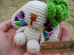 Lulu the Amigurumi Bunny - Green by WyandotteWears on Etsy, $16.50