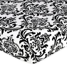 @Overstock - This Sweet Jojo Designs coordinating black and white damask fitted crib sheet matches exclusively with the Sweet Jojo Designs Crib and Toddler Bedding Sets.  High quality and easy machine washing make this crib sheet a must have for your nursery.http://www.overstock.com/Baby/Sweet-JoJo-Designs-Black-and-White-Damask-Isabella-Fitted-Crib-Sheet/7595140/product.html?CID=214117 $18.99