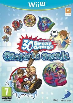 Family Party: 30 Great Games Obstacle Arcade (Wii U) Wii U Games, Nintendo, Frosted Flakes, Arcade, Comic Books, Party, Babysitting, Comic Strips, Cartoons