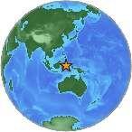 Earthquake location 1.975°N, 126.546°E