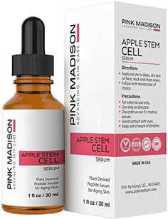 Face Skin Care Swiss Apple Stem Cell Serum by Pink Madison for Anti Aging Anti Wrinkles Skin Tightening Face Lift Serum Stem Cell Clinical Treatment with Organic Ingredients *** More info could be found at the image url. Anti Aging Treatments, Skin Care Treatments, Anti Aging Mask, Anti Aging Skin Care, Sensitive Skin Care, Cool Ideas, Young Living, Sprays, Tips