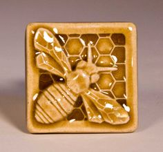 Honey Bee Tile...i can see this as well as other's on tiles...i.e. butterflies, grasshoppers, ladybugs, caterpillars, etc...