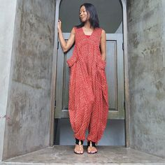 Colorful India... Epiphany...Jumpsuit Red Indian por cocoricooo
