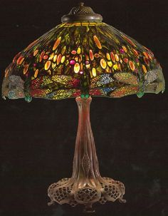 Dragonfly Lamp, design attributed to Clara Driscoll ca. 1906-1920