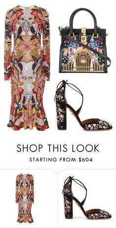 """541"" by madeleine-icon ❤ liked on Polyvore featuring Naeem Khan, Aquazzura and Dolce&Gabbana"
