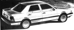 one of the final sketches for SAAB 9000CD face-lift design
