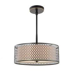 Woodbridge Lighting 16620 3 Light Full Sized Single Pendant from the Spencer Col Bronze Indoor Lighting Pendants