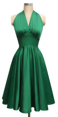 dress by Rocio Portal Simple Dresses, Pretty Dresses, Beautiful Dresses, Women's Dresses, Evening Dresses, Fashion Dresses, Vintage 1950s Dresses, Retro Dress, Retro Outfits