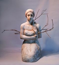Clay and wood by Mary Buckman