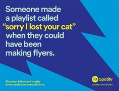lustige Kampagne campaign inspiration Spotify Builds More Funny Ads Around User Data, This Time Saluting Goofy Playlist Names Adweek App Marketing, Content Marketing Strategy, Guerrilla Marketing, Street Marketing, Clever Advertising, Advertising Campaign, Spotify Advertising, Print Advertising, Spotify Billboards