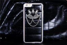 Weiche TPU Handyhülle mit Schädel und Knochen aus Metall für iPhone 6/6 Plus - spitzekarte.com