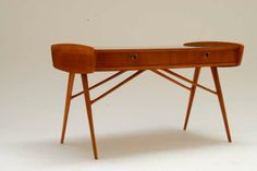 Unique 1956 Commissioned Cherry Desk by Alfred Hendrickx for Belform | From a unique collection of antique and modern desks and writing tables at http://www.1stdibs.com/furniture/tables/desks-writing-tables/