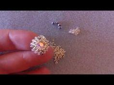 """Orecchini a lobo """"Stardust"""" - come incastonare cabochon da strass SW Jewelry Making Tutorials, Beading Tutorials, Earrings Handmade, Handmade Jewelry, Earring Tutorial, Diy Tutorial, Beaded Jewelry Patterns, Beaded Rings, Beads And Wire"""