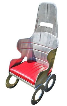 RACE CAR CHAIR WITH LEATHER SEAT